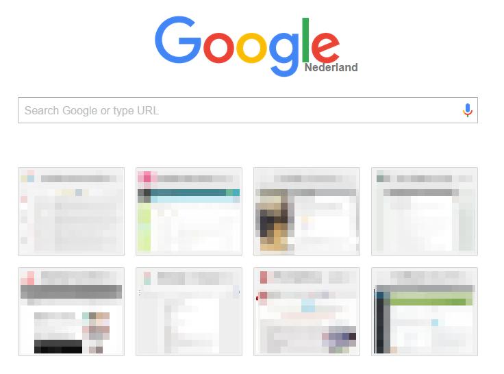 Google new tab page