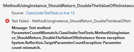 Parameter Count Mismatch